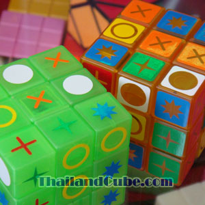 PVC sticker 2 in 1 for 3x3x3 cube