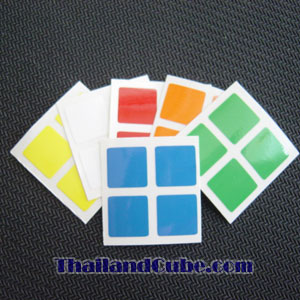 PVC sticker for Keychain 2x2x2