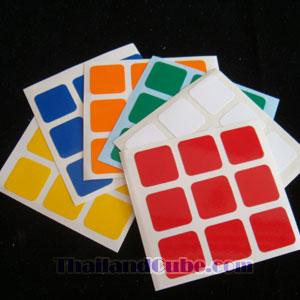 PVC sticker for 3x3x3 cube